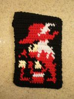 Red Mage Crochet Case by Phantasmfreud