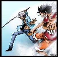 One Piece 786 Bread Fight by Theahj90