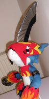 My selfmade plush Flamedramon Pic.2 by TamerOfAstamon