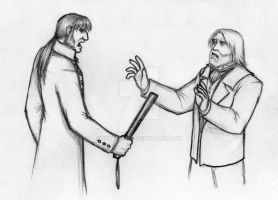 Les Mis sketch: Confrontation by Nyranor