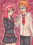 Card Project #011 - Molly/Arthur by DemonBarberLucy