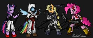 MLP/Video Game Crossover by malizlewa