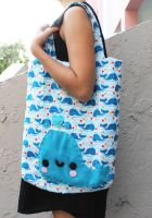 Whale Tote Bag by CosmiCosmos