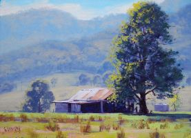 Old Farm Shed by artsaus