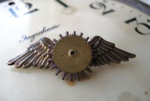 Steampunk Aviator Award Pin by NobleStudiosLtd