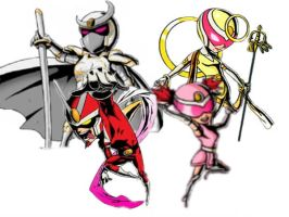 Viewtiful Joe: Joe's family henshined by VexenRandomDrawerGuy