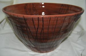 Large Bowl with Carved Pattern by CaptainColossal