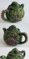 Zombie Teapot by richardsymonsart