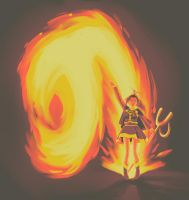 Golden Sun - Jenna Attacks by Velkia