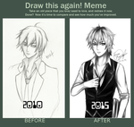 Draw This Again Meme: Touya Ouji by 0din-Cosplayer
