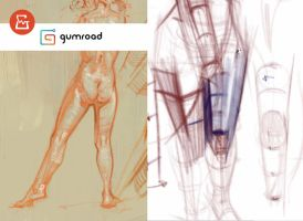 Gumroad - Figure drawing form/structure by vladgheneli