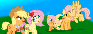 The AppleShy family by SuperRosey16