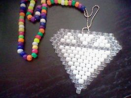 Kandi diamond necklace by BloodBurstRosso