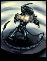 Alien Guyver by blackpoint