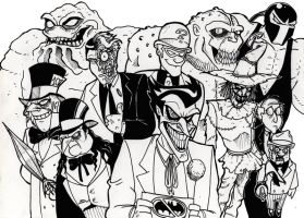Welcome to Gotham BW by Boredman