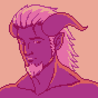 Pink Palette Demon Dude by JustinGameDesign
