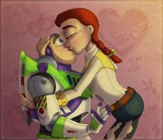 Kiss me, my sweet space toy by Violette-Aner