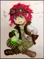 OC : Chibi (Collab) Coloured version of Baron by LightningCloud137