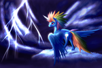 Rainbow Corn - Eye of the Storm by xormak