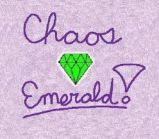 Sonic X- Chaos Emerald by Coraline15