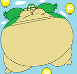 Anthro Snivy P Balloon Inflation by RickDaCuteChubster