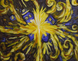 TARDIS Van Gogh Painting by Alien-mart