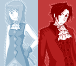 Young Miles and Franziska by taximals