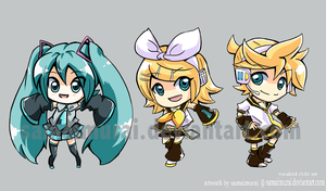 Vocaloid Chibi Set by SamaiMurai