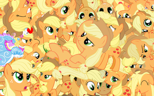 Applejack explosion wallpaper by Starlyk