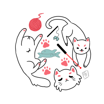 Cat Circle by ToxicCrayonz