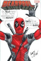 Deadpool movie sketch cover by mechangel2002
