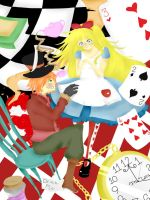Alice and the Hatter by srcpcsoha