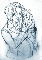 Scully and Queequeg by y2jenn