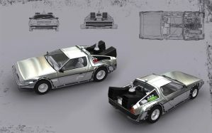 Delorean by santiagocamps