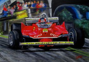 Gilles Villeneuve at the limit by JosefVonDoom