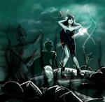 Death Of The Black Queen by enigmatia