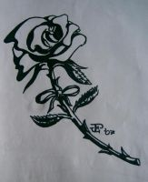 Black n' white rose by Child-of-God