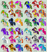 Adoptables (36 of them) they cost one point each by secretkeeperthekill