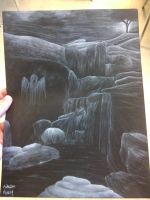 Spooky Waterfall by Ender-Yama