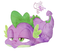 Tired Spike -u- by KicsterAsh