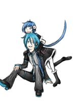 Mikuo and Kaiko by GrymRyder