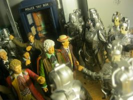 EVERY CYBERMAN EVER vs The Doctor 2 by spectrum-sparkle