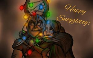 Dagur and Rae - Happy Snoggletog by LadyIonia