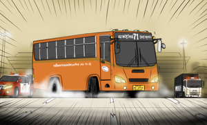 BMTA mini bus - Most wanted by VachalenXEON