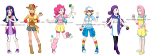 Pony Pokegirls by Hapuriainen