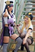 On the case (Panty and Stocking) by SkittlesnCookie