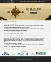 Settlers 2012 Website Page by Samosuki