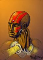 Dhalsim painted by CptMunta