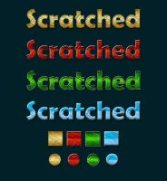 Scratched Text Styles by xara24