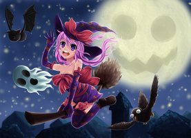 BestOfAnimeGirls Halloween themed contest by DragTurtle